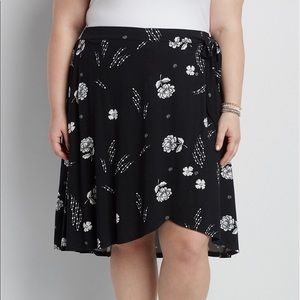 NWT! Maurices High-Low Wrap Skirt